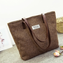 Outlet-Shopper Natural Linnen Bruin
