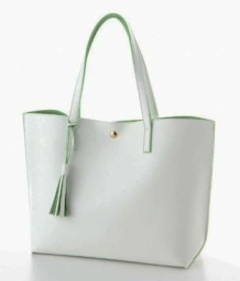 Shopper Light Tote Wit&Groen